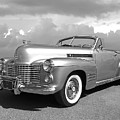 Bygone Era - 1941 Cadillac Convertible In Black And White by Gill Billington