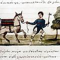Byzantine Farmer, 15th C by Granger
