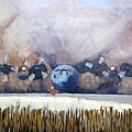 C130 Landing In Alaska by Brian McCullough