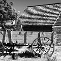 Cabin And Wagon by David Lee Thompson