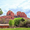 Cabin At Cathedral Rock Panorama by James Eddy