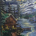 Cabin In The Mountains by Julie Thomas-Zucker
