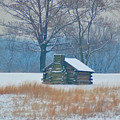 Cabin In The Snow - Valley Forge by Bill Cannon