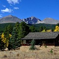 Cabin With A View Of Long's Peak by Tranquil Light Photography