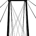 Cable Bridge Abstract by Debbie Oppermann