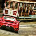 Cable Car Meets Ferrari by Blake Richards