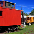 Caboose At Shelburne Trolley Museum by John Burk
