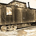 Caboose Black And White by Lisa Wooten