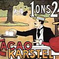 Cacao Karstel - Vintage Cacao Advertising Poster by Studio Grafiikka
