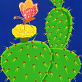 Cactus And Butterfly by Lucyna A M Green