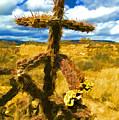 Cactus Cross by Lou  Novick