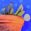 Cactus With Blue Dots by Amy Sorvillo