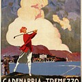 Cadenabbia Tremezzo, Golf And Tennis - Golf Club - Retro Travel Poster - Vintage Poster by Studio Grafiikka