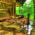 Cades Cove Carriage At Cantilever Barn by Reid Callaway