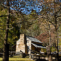 Cades Cove Early Settler Cabin  by Douglas Barnett