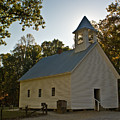 Cades Cove Methodist Church Aglow by Douglas Barnett
