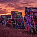 Cadillac Ranch At Sunrise  by Imagery by Charly