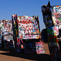Cadillac Ranch On Route 66 by Susanne Van Hulst