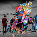 Cadillac Ranch Spray Paint Fun Along Historic Route 66 By Amarillo Texas by Randall Nyhof
