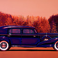Cadillac V16 Custom Imperial 1937 Painting by Paul Meijering