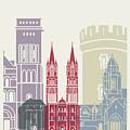 Caen Skyline Poster by Pablo Romero