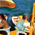 Cafe At Dockside by Bob Dornberg