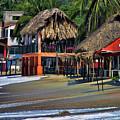 Cafe Beach Bucerias Mexico by Chuck Kuhn