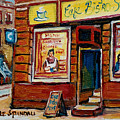 Cafe Bistro St. Viateur by Carole Spandau