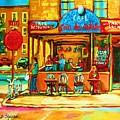 Cafe Coin Des Artistes by Carole Spandau