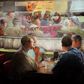 Cafe - Cold Drinks With Friends 1941 by Mike Savad