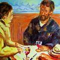 Cafe  Homage  De Pierre Auguste by Carole Spandau