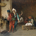Cafe House, Cairo  by Jean-Leon Gerome