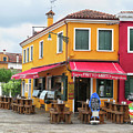 Cafe In Burano by Dave Mills