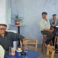 Cafe In Greece by Madeline Ellis