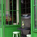 Cafe In Green by Lorraine Devon Wilke