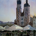 Cafe In Main Square Krakow by John Cox