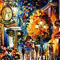 Cafe In The Old City by Leonid Afremov