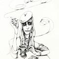Cafe Lady by Valerie White