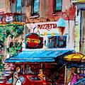 Cafe Piazzetta  St Denis by Carole Spandau