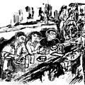 Cafe Scene by Lily Hymen