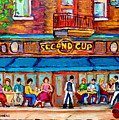 Cafe Second Cup Terrace by Carole Spandau