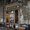 Cafe Terrace On Piazza San Marco by Sami Sarkis