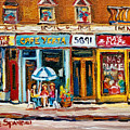 Cafe Yenta And Ma's Place by Carole Spandau