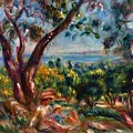 Cagnes Landscape With Woman And Child 1910 by Renoir PierreAuguste