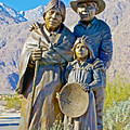 Cahuilla Band Of Agua Caliente Indians Sculpture On Tahquitz Canyon Way In Palm Springs-california by Ruth Hager