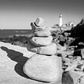 Cairn On Shore, Ft. Williams Park, Cape Elizabeth, Maine  #30063 by John Bald