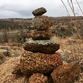 Cairn On The Mountain by Lori Douglas-Uddenberg