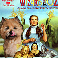 Cairn Terrier Art Canvas Print - The Wizard Of Oz Movie Poster by Sandra Sij