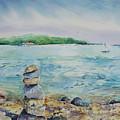 Cairns On The Beach by Adam VanHouten