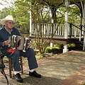 Cajun Man And Accordion by Robert Ponzoni